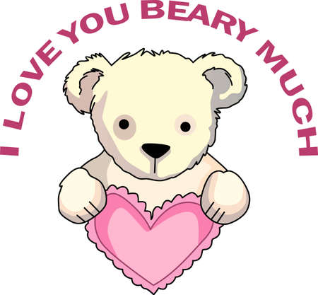 bruins: Send some Valentine cheer  with this bear.   This make a perfect for adding to your festivities.  They will love it!