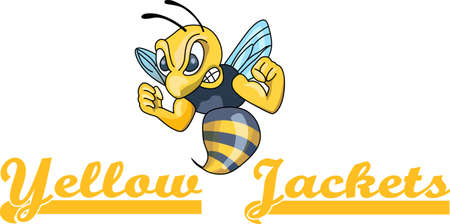 yellow jacket: Show your team spirit with this Yellow Jacket logo.  Everyone will love it!