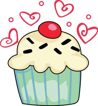 dar un regalo: �Necesitas una manera �nica de decir el d�a de San Valent�n feliz Dar un regalo de esta magdalena adorable con dise�o de los corazones. Ella va a encantar.