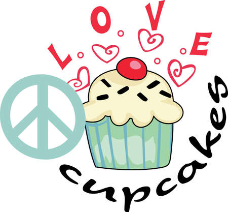 give a gift: Need a unique way to say Happy Valentines Day  Give a gift of this adorable cupcake with hearts design.  She will love it.