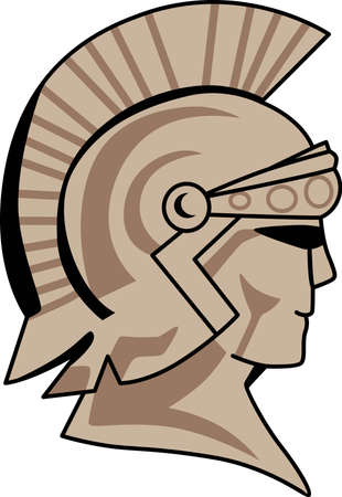 the trojan: Time to cheer for the team with this Trojan mascot design.  A perfect design for all the fans from Great Notions.