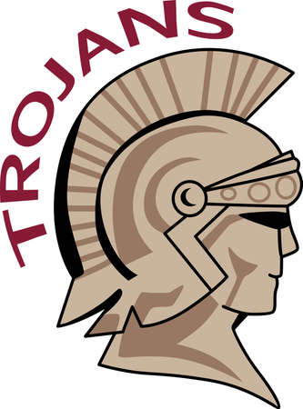 Time to cheer for the team with this Trojan mascot design.  A perfect design for all the fans from Great Notions.
