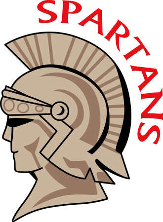 Time to cheer for the team with this Trojan mascot design.  A perfect design for all the fans from Great Notions. Stok Fotoğraf - 44988494