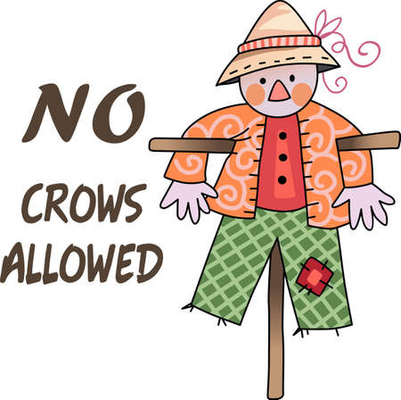 scarecrow: A scarecrow is a perfect fall decoration.  Get these designs from Great notions.