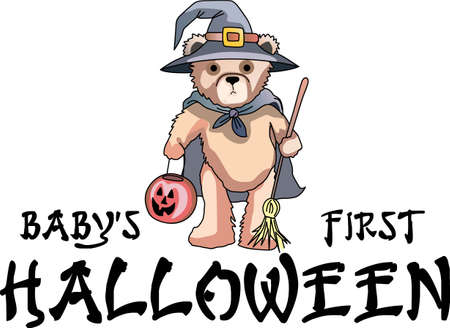 bruins: This trick or treat bear is here to wish you a happy Halloween.  Buy this as a special treat.  Your friends will love it! Illustration