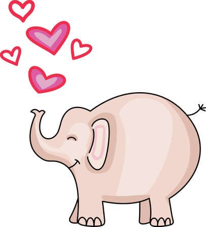 Follow your heart with this adorable elephant.  Perfect for a nursery. Stock fotó - 44988655