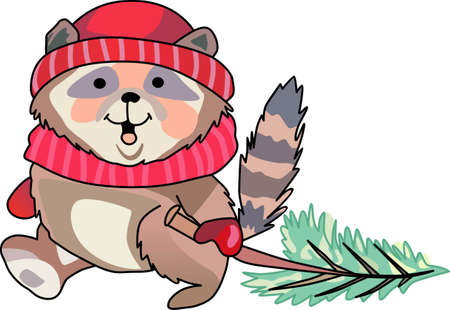 notions: Send holiday cheers with these beautiful Christmas raccoon. Pick those designs by Great Notions!
