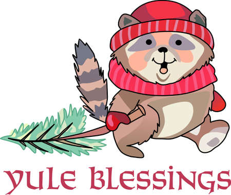 in common: Send holiday cheers with these beautiful Christmas raccoon. Pick those designs by Great Notions!