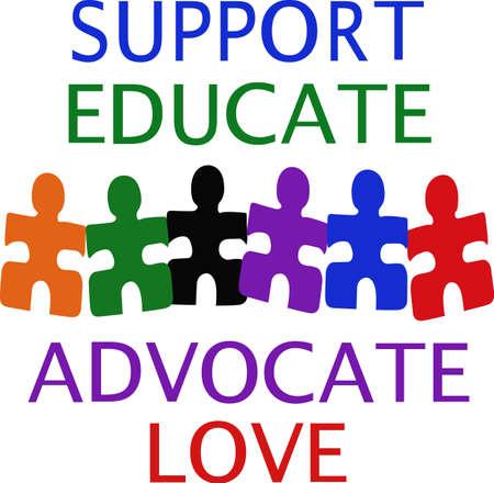Speciaal voor kinderen met autisme weten dat het hun gift. Stuur deze speciale gift enkel voor hen. Ze zullen love it.