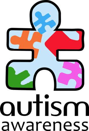 special education: Especial ni�os con autismo saben que es su regalo. Enviar este regalo especial para ellos. Se les va a encantar. Vectores