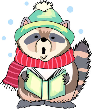 carolers: Send holiday cheers with these beautiful Christmas raccoon. Pick those designs by Great Notions!