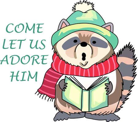 Sturen vakantie juicht met deze mooie kerst wasbeer. Pick die ontwerpen door Groot Noties!