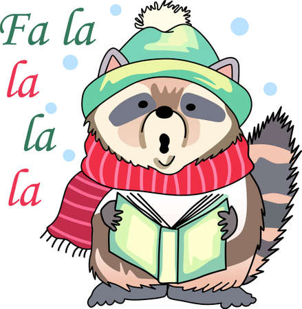 Send holiday cheers with these beautiful Christmas raccoon. Pick those designs by Great Notions! Banco de Imagens - 44989152