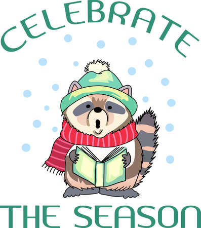 Send holiday cheers with these beautiful Christmas raccoon. Pick those designs by Great Notions!