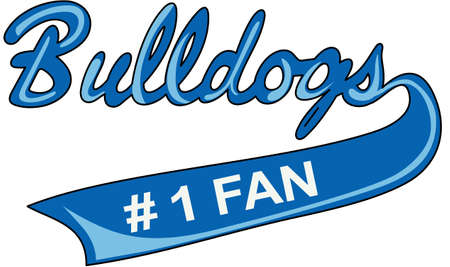 Show your team spirit with this Bulldogs logo.  Everyone will love it!