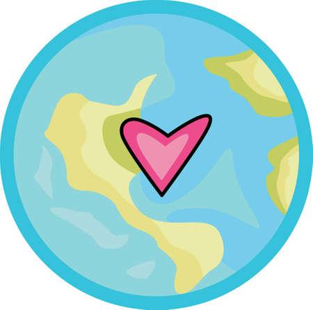 madre tierra: Muestre su amor a la madre tierra. Enviar esto alguien que usted sabe que necesitan recordar lo que pueden hacer para ayudar al medio ambiente. Se les va a encantar! Vectores