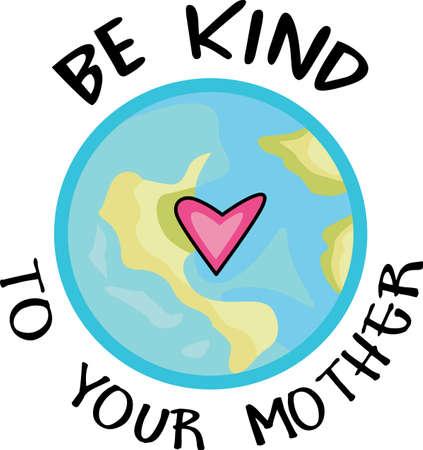Muestre su amor a la madre tierra. Enviar esto alguien que usted sabe que necesitan recordar lo que pueden hacer para ayudar al medio ambiente. Se les va a encantar! Foto de archivo - 44989508