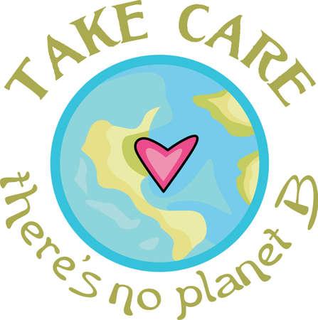 Muestre su amor a la madre tierra. Enviar esto alguien que usted sabe que necesitan recordar lo que pueden hacer para ayudar al medio ambiente. Se les va a encantar! Foto de archivo - 44989516