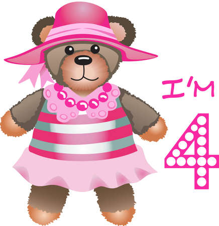 pretend: This teddy bear is perfect for pretend play.  Every little girl will love it!
