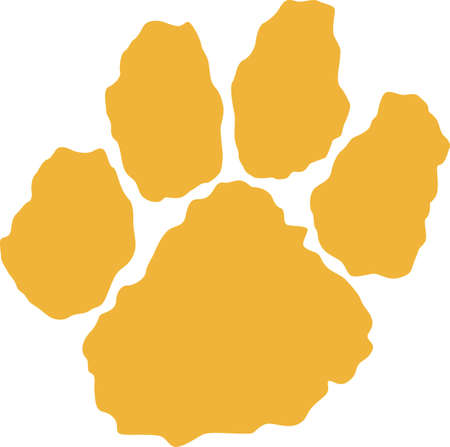wildcat: Time to cheer for the team with this tiger paw mascot design.  A perfect design for all the fans from Great Notions.