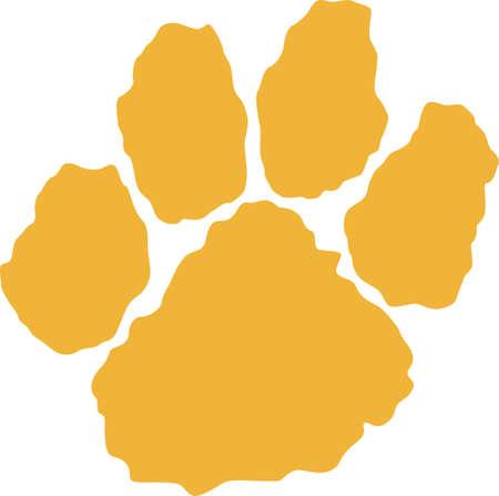 Le temps de remonter le moral de l'équipe avec cette conception patte de tigre de mascotte. Une conception parfaite pour tous les fans de Great notions.
