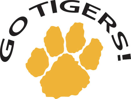 Time to cheer for the team with this tiger paw mascot design.  A perfect design for all the fans from Great Notions.