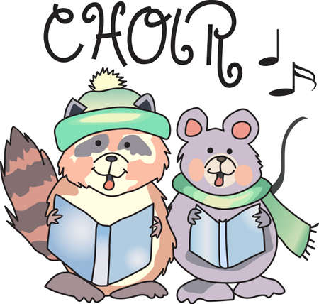 caroler: Send some Christmas Cheer with this cute carolers.  Everyone will love it! Illustration