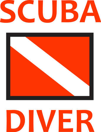 nautical flags: Your rescue diver works to save lives everyday.  Show them how much you appreciate their service.
