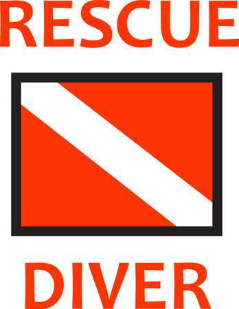 너의 구출 다이버는 매일 생명을 구하기 위해 일한다. 당신이 그들의 봉사에 얼마나 감사하는지 그들에게 보여주십시오. 일러스트