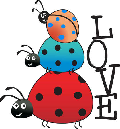 lady beetle: Kids enjoy spending time at the park.  This is the perfect design to take with you