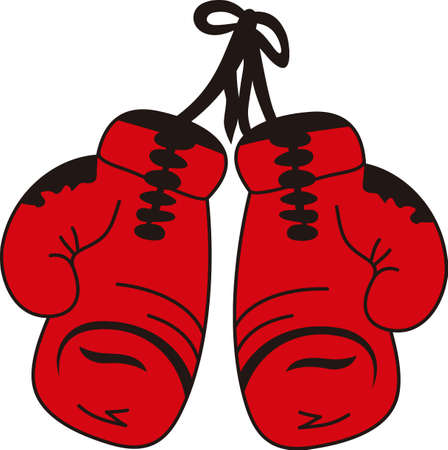 Use this boxing design on an athletic bag.