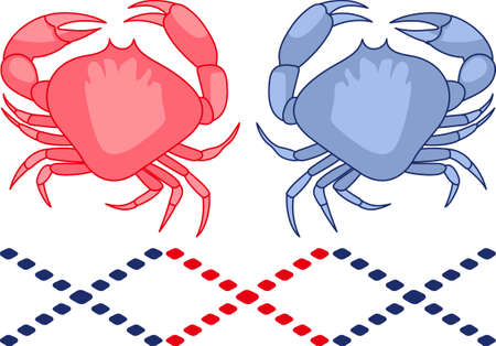 crabby: Display your astrological sign with this beautiful crab for the sign Cancer.  Get these designs from Great Notions. Illustration