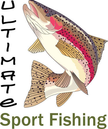 rainbow trout: Dont forget this cute design when you go fishin.  This design is perfect to take with you when you go.  Everyone will love it!
