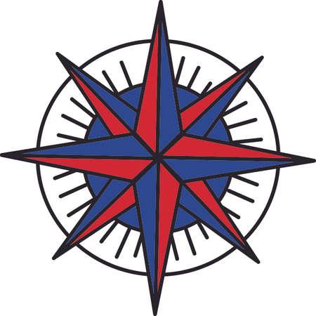 Die Winde ändern sich. Wissen, woher der Wind mit diesem netten Kompass blasen wird. Jeder wird Ihr Land Dekorationen lieben! Standard-Bild - 44992600