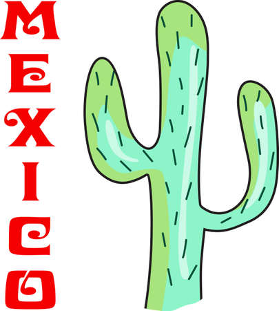 This cute cactus is a perfect design for your Southwest design.  Get these designs from Great Notions.