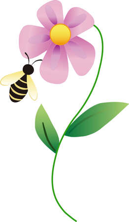 Kids enjoy spending time at the park.  This is the perfect design to take with you.  Everyone will love these adorable bees! Ilustracja