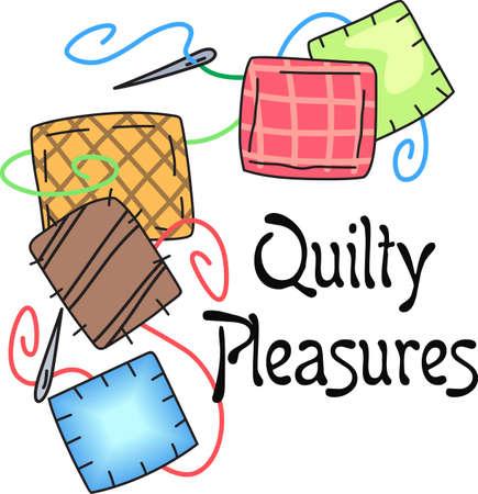 Quilten is zo'n bijzonder talent die tijd geduld vereist. Geef dit quilten bug ontwerp voor hen. Ze zullen love it! Stock Illustratie