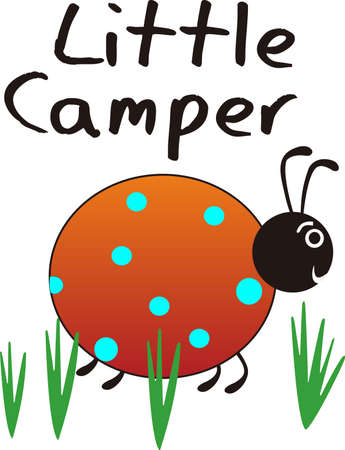 lady beetle: Kids enjoy spending time at the park.  This is the perfect design to take with you.  Everyone will love this adorable ladybug!