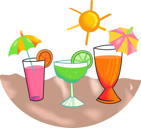 oclock: Its five oclock somewhere!  Grab a margarita and take a break.  Get these designs from Great Notions.