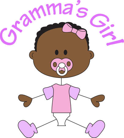 A baby girl is made from sugar and spice everything sweet and everything nice.  Use this design on the newborn girls nursery.  Get these designs from Great Notions.