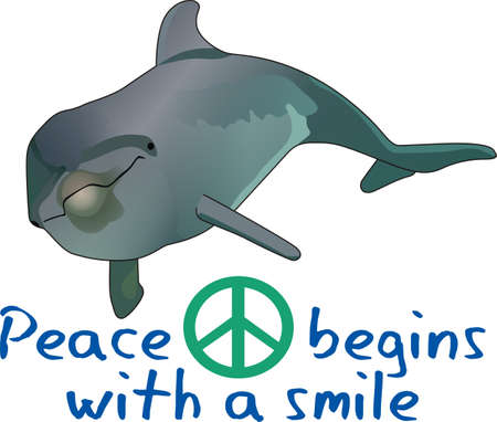 Send this cute dolphin to a child or child at heart.  They will love it! 向量圖像