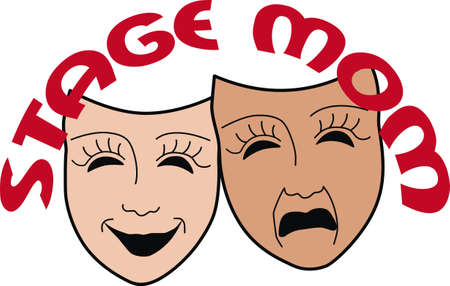 Drama masks are the perfect design to promote the drama department.  Pick those designs by Great Notions.