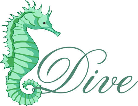 bony: A sweet seahorse is perfect for the sea life lover.  A fun aquatic image from Great Notions! Illustration