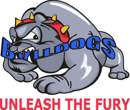 british bulldog: Show your team spirit with this bulldogs logo.  Everyone will love it!