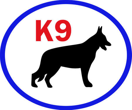 k9: My best friend is hard at work for me.  Show everyone how much your dog means to you.  They will love it! Illustration