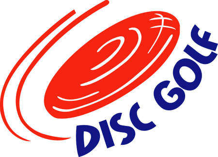 Disc golf is a great past time sport to enjoy playing with a group or on your own.  A perfect design from Great Notions. Иллюстрация