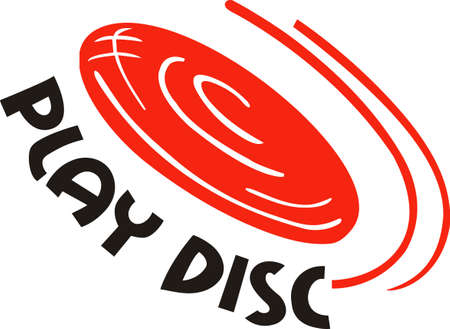 disc golf: Disc golf is a great past time sport to enjoy playing with a group or on your own.  A perfect design from Great Notions. Illustration