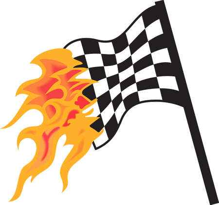Start your engines its time to race.  Get these flaming designs from Great Notions. Illusztráció
