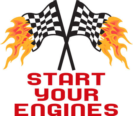 Start your engines it's time to race.  Get these flaming designs from Great Notions. Zdjęcie Seryjne - 45001057