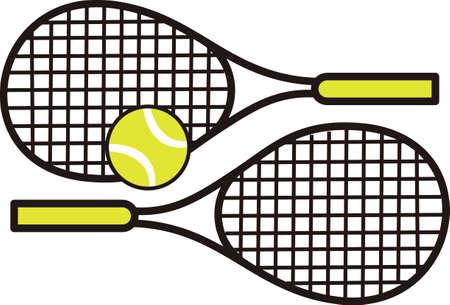 테니스 게임을 좋아하는 특별한 테니스 선수를 생각 나게하십시오. 테니스를 함께하는 것을 좋아하는 커플에게 딱! 스톡 콘텐츠 - 45001068